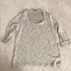 Sparkle & Fade 3/4 sleeve beige sweater